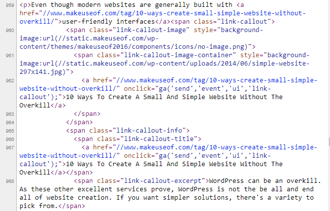 View HTML Source Example