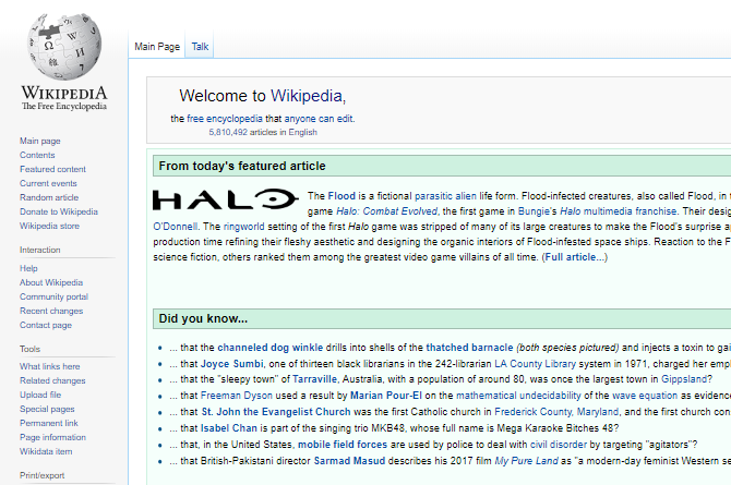 Wikipedia Zoomed Out