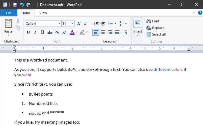 WordPad Windows