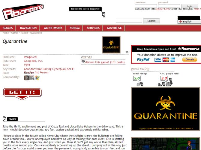 abandonia download page quarantine game