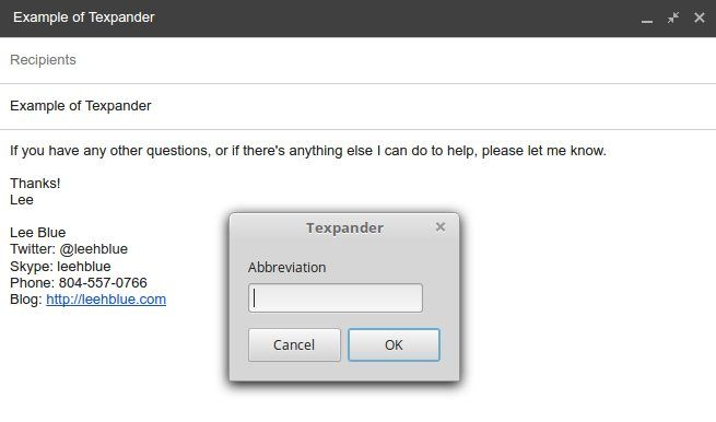 Texpander in action