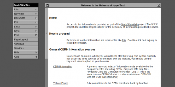 You Can Now Try the CERN Web Browser From 1990