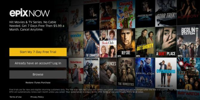 Epix Now Is a New Video Streaming Service