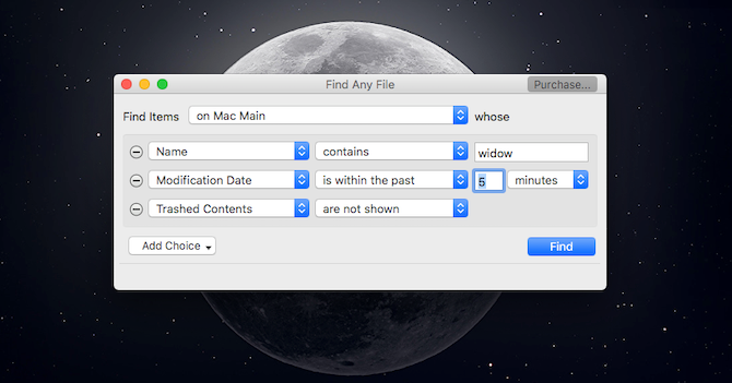 Find Any File Mac