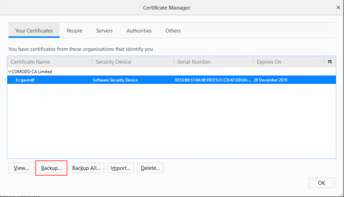 firefox certificate backup extract