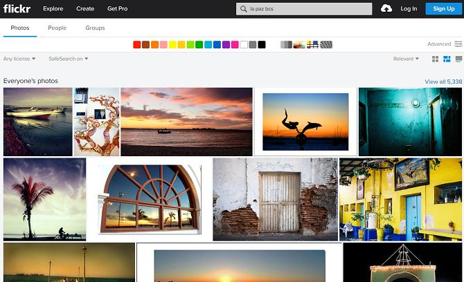 flickr results page