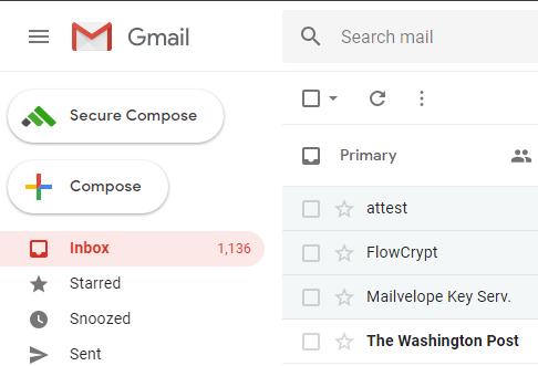 flowcrypt secure compose button gmail inbox