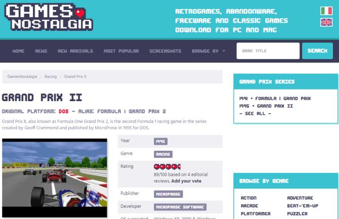 games nostalgia grand prix 2 download page