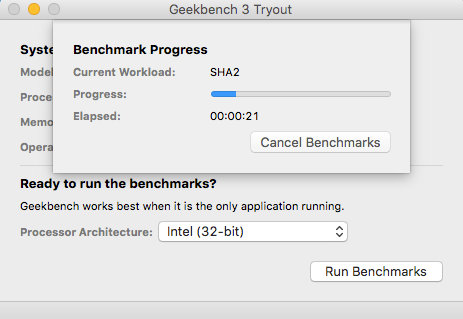 Geekbench Benchmark Test Mac CPU