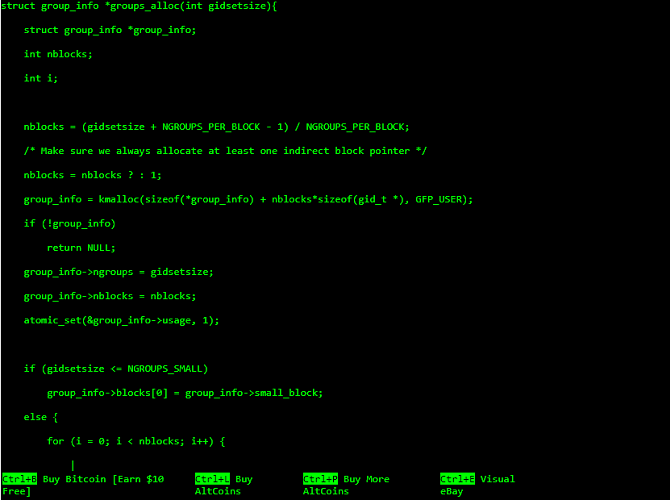 Screenshot from Hacker Typer