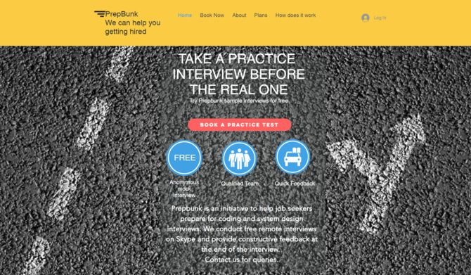 homepage for prepbunk