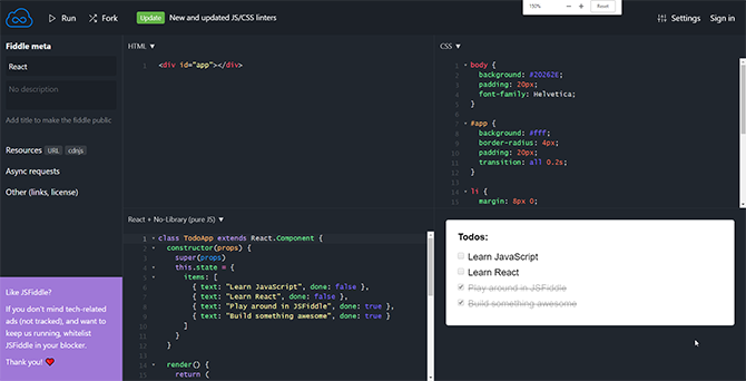 JSFiddle: perfect for fiddling with JavaScript