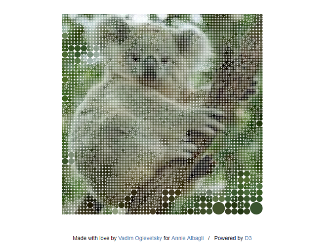 Screenshot from Koalas To The Max website