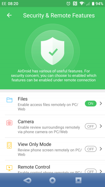 muo android filesync airdroid permissions