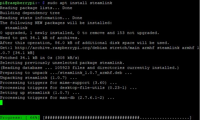 Install Steam Link on Raspberry Pi 3