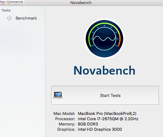 Novabench Benchmark Test Mac