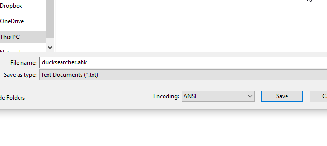 Make sure to save scripts with the AHK extension