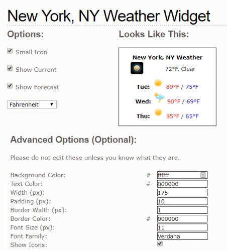 show my weather create widget