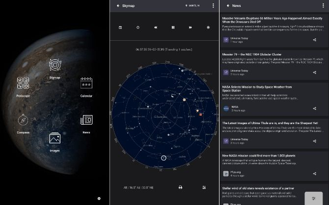 Screenshots from Sky Wiki app