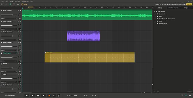 Soundation browser multitrack audio editor
