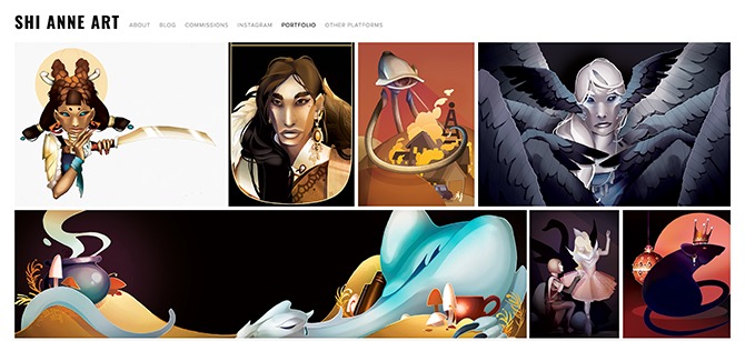 Illustrator website using Squarespace