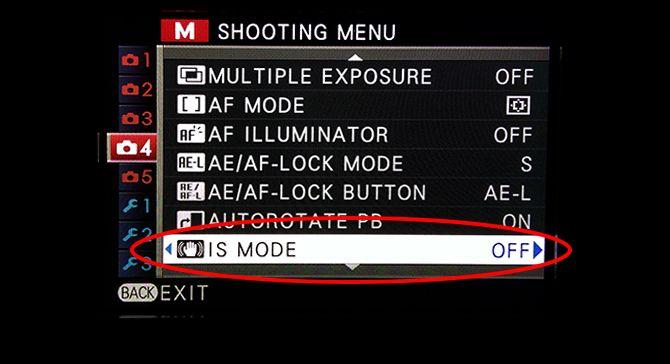 turn off image stabilization