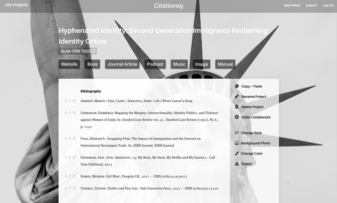 Manage Your Citations With Citationsy