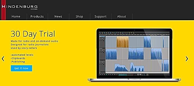 Hindenburg Journalist Podcast software