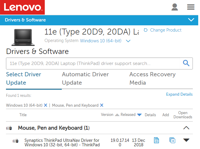 Lenovo Driver Update