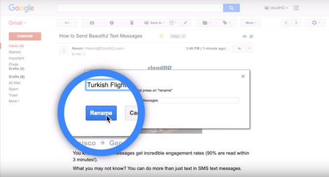 Rename Email for Gmail