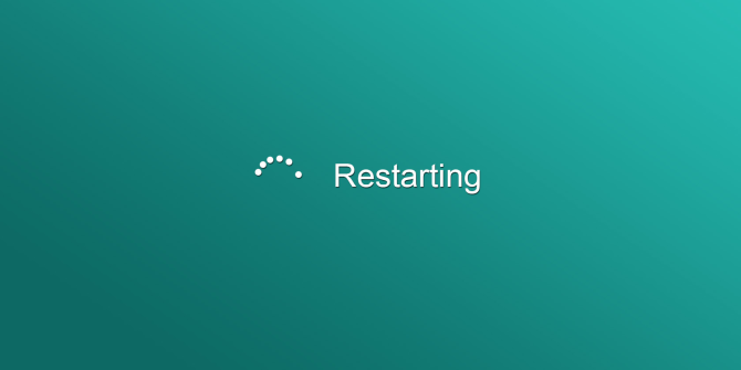 Reboot Windows computer.