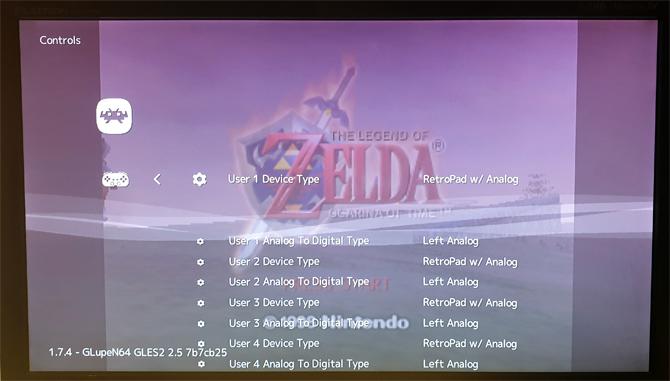 SNES Mini RetroArch Keypad Mapping