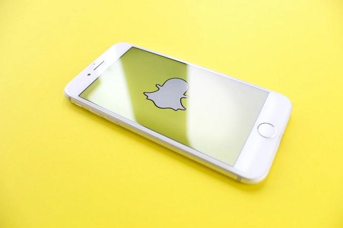 Snapchat ghost logo on iPhone