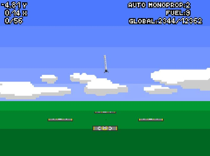 Land a rocket in this browser game.