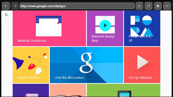 Веб-браузер для главного экрана Android TV