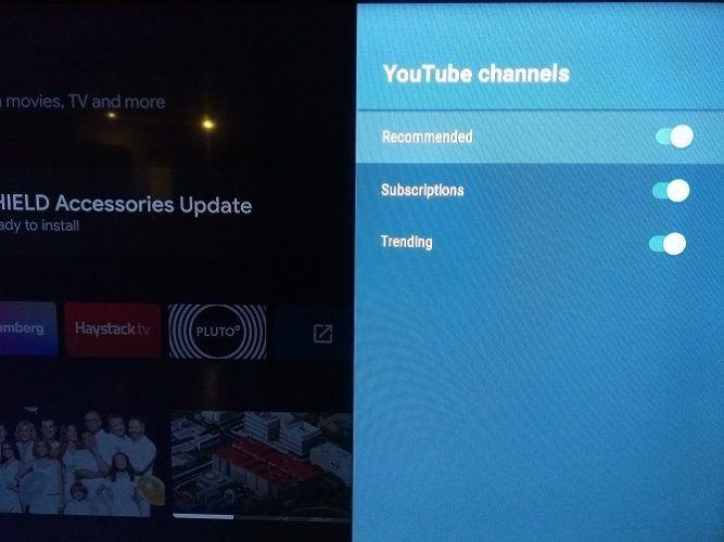 Android TV рекомендуется выбрать содержание