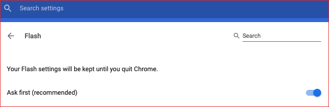enable flash in google chrome settings tab