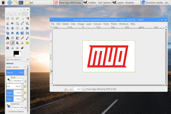 Image editing on Raspberry Pi with GIMP