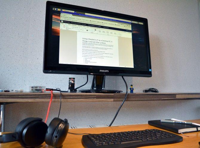 A Raspberry Pi desktop setup