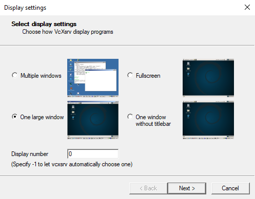 Set up an X server in Windows