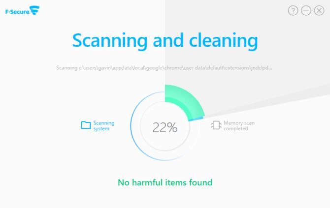 online antivirus f-secure scan