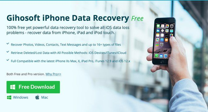 Gihosoft iPhone Recovery website