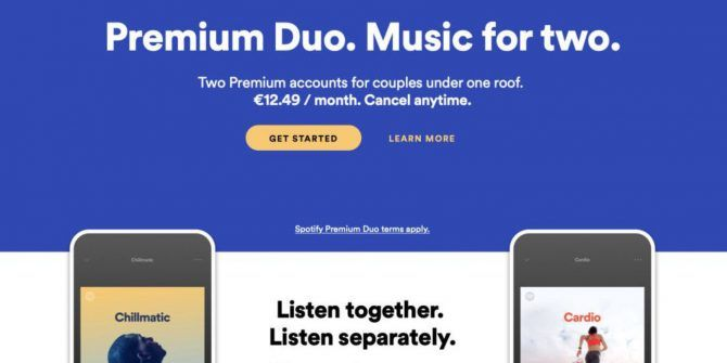 Spotify Launches Premium Duo for Couples