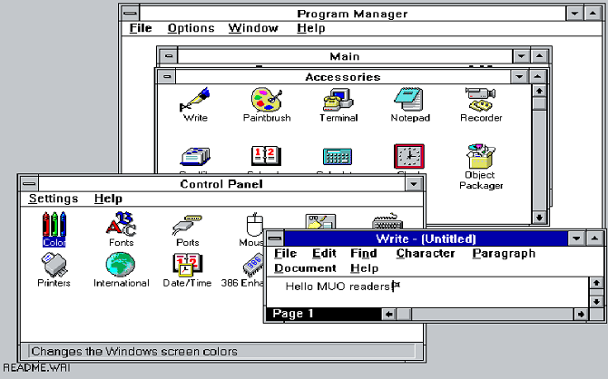 windows 3.1 demo