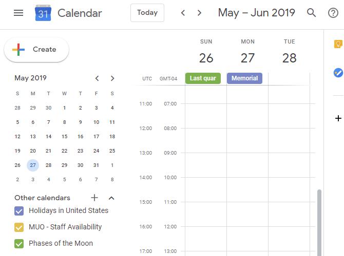Google Calendar Phases Moon