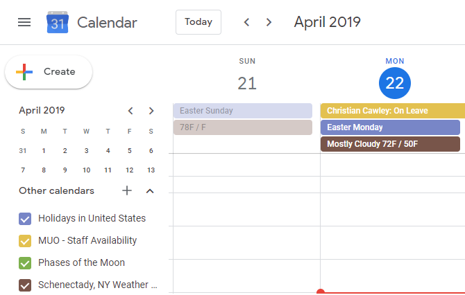 Google Calendar Weather Forecast