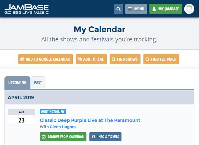 JamBase Calendar