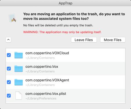 AppTrap Remove Files