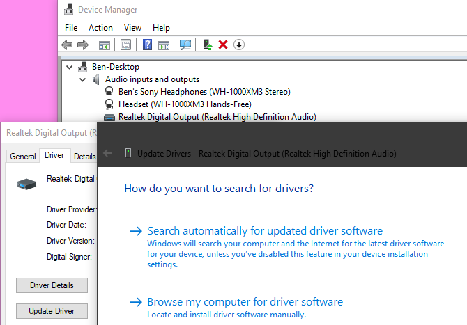 Device Manager Update Driver Manually