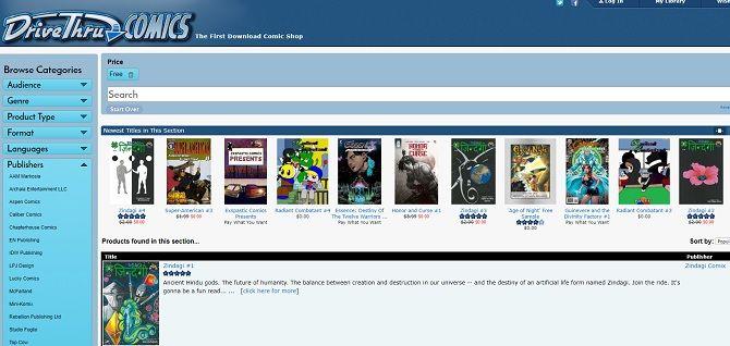best websites to read comics online for free